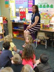 Mary O'Gorman teaches her first-grade class Thursday
