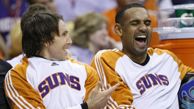 Steve Nash (left) and Grant Hill (right) are both eligible for induction into the Naismith Basketball Hall Fame this year.