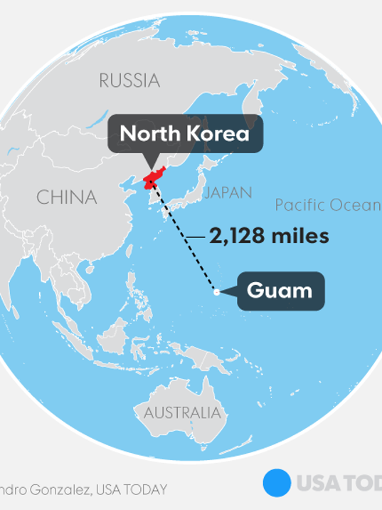 Guam Under The Gun From North Korea What We Know Now - Us trying to find north korea on map