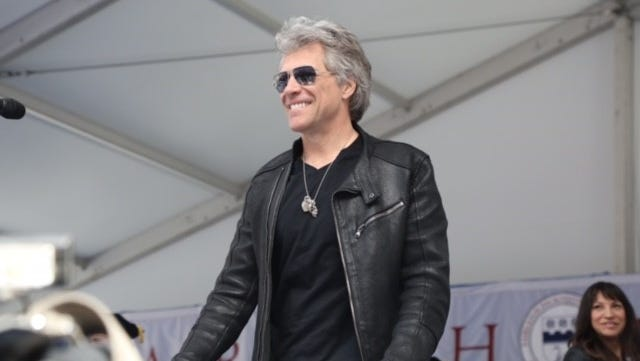 Jon Bon Jovi at the Fairleigh Dickinson University commencement at MetLife Stadium in East Rutherford on Tuesday.