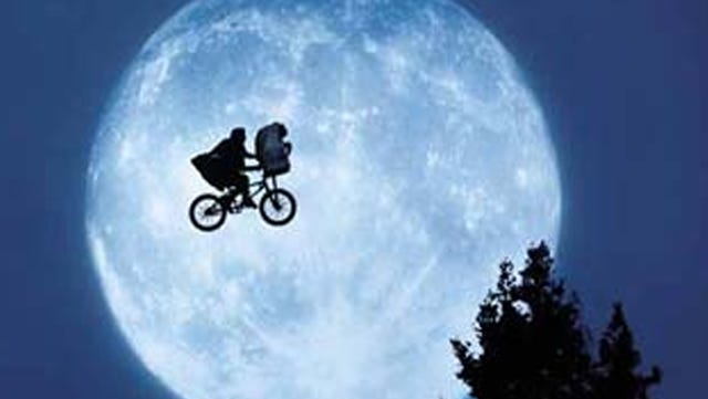 "A classic scene from ""E.T."""
