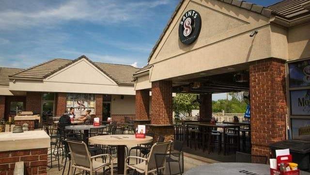 Saints Pub is set to open next week in the Mavericks Sports Pub location in West Des Moines. Pictured is the first Saints Pub in West Des Moines.