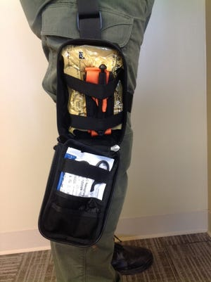 A new kit for treating bleeding victims offered along with training of its use by the Morris County Office of Emergency Management is being credited for saving a life in Mount Olive.