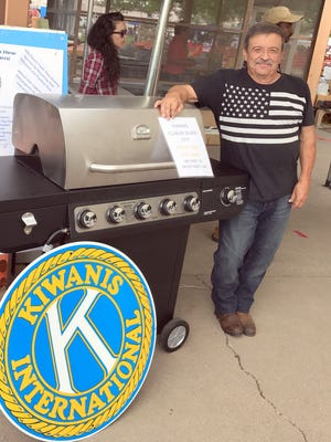 Art Cruz won the BBQ Grill Giveaway that the Kiwanis Club of Silver City held during the Fourth of July.