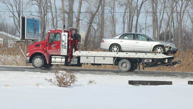 No serious injuries were reported after a single-vehicle crash that ended with the car in a pond near North Christy Chapel Road and Ohio 163 in January 2018.