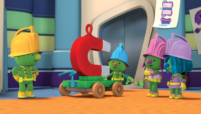 "The Doozers, an animated spinoff based on characters from ""Fraggle Rock,"" encourages children to design, create and innovate. Flex, left, Spike, Molly Bolt and Daisy Wheel are ""the Pod Squad,"" best friends who build projects."