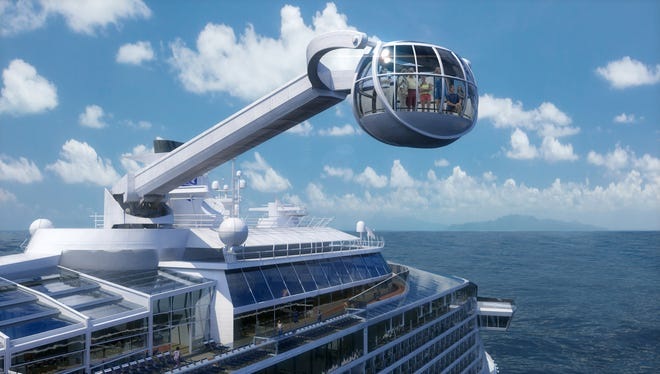 Travel agents say Royal Caribbean's  Quantum of the Seas, with its unique observation capsule on a movable arm, is the most anticipated new cruise ship of 2014.