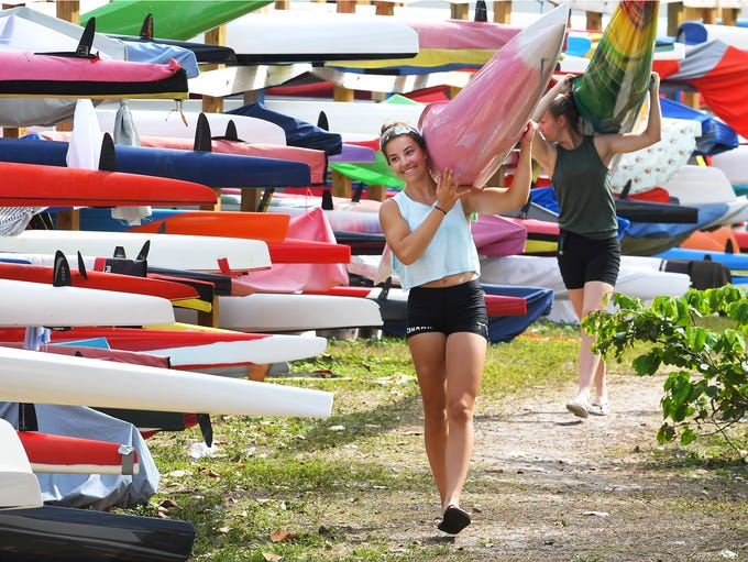 World class kayak and canoe paddlers from teams from