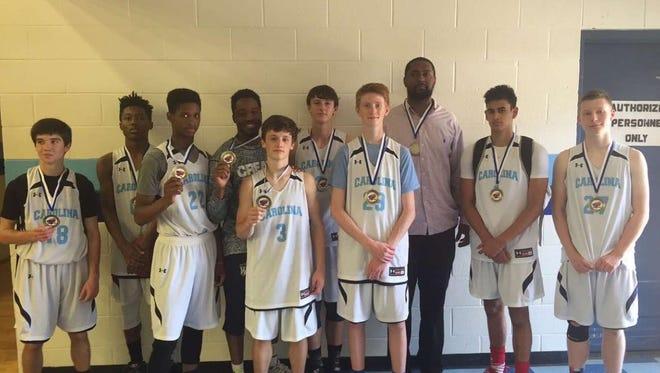 The Team Carolina Asheville 16 and under basketball team.
