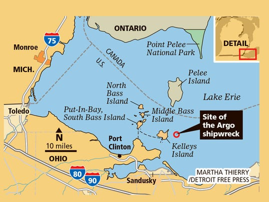 DFP Lake Erie Shipwreck MAP