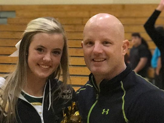 Lexi Sima and her father, Shawn Sima, of Viera, were