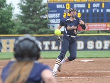 Hartland freshman softball pitcher continues to impress in win over Canton