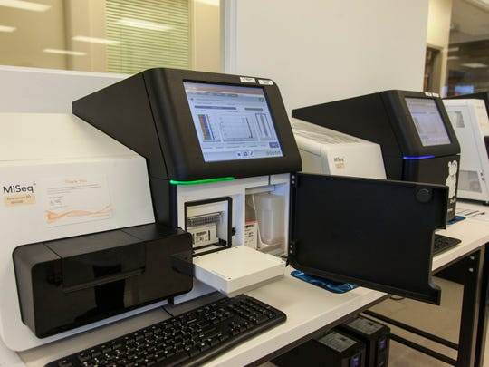 Inside the Intermountain Precision Genomics lab in St. George, May 23, 2017.
