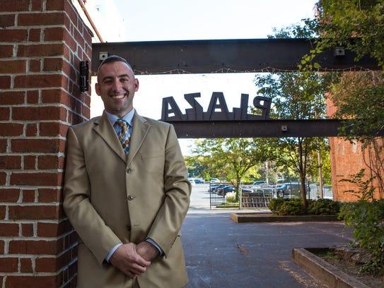 Salisbury Mayor-elect Jake Day poses on the Downtown