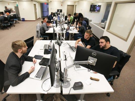 Students work at Zip Code Wilmington.