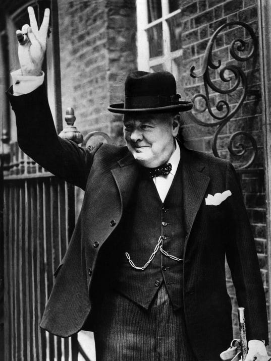 on eve of war with germany  winston churchill penned essay about alien life