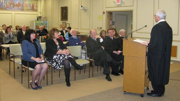 The Swearing-In Ceremony on January 8, 2014 at the Penfield Town Hall was a special occasion with four justices in attendance at the same time.