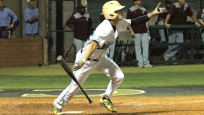 Catholic High senior Matthew Estrada produced the most dramatic moment of last week's quarterfinal round with his 3-run, walk-off home run winner. Estrada and the Crusaders travel to Jacksonville to face Providence as one of four area teams still left in post-season play