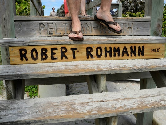 Well known fisherman and surfer Robert Rohmann has