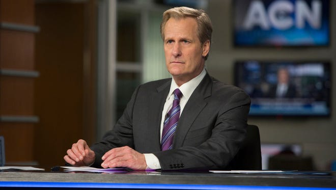Jeff Daniels as Will McAvoy in a scene from 'The Newsroom.'