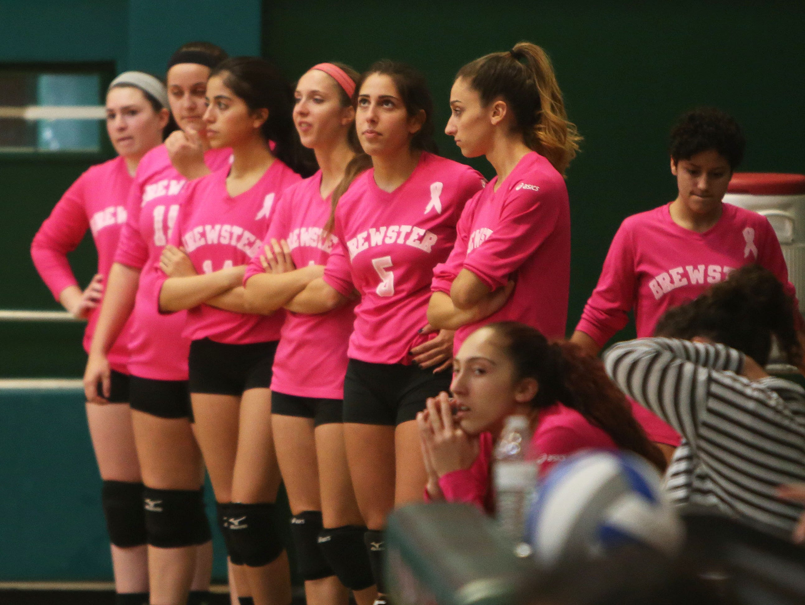Fox Lane swept Brewster 25-23, 25-23, and 25-16 in volleyball action at Brewster High School Oct. 22, 2015.