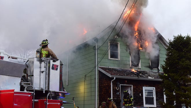One person died and a Little Ferry house  was badly damaged in a fire on Wednesday morning.