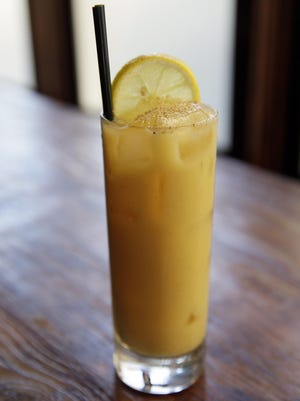 The Pumpkin Fizz cocktail at the Palm House restaurant in San Francisco is the perfect drink for the holidays.