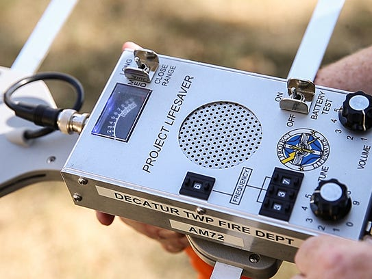A Project Lifesaver scanner used to track missing people,