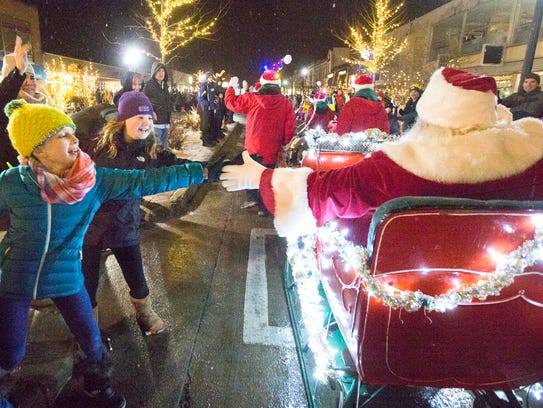 There's no shortage of chances to meet Santa as he