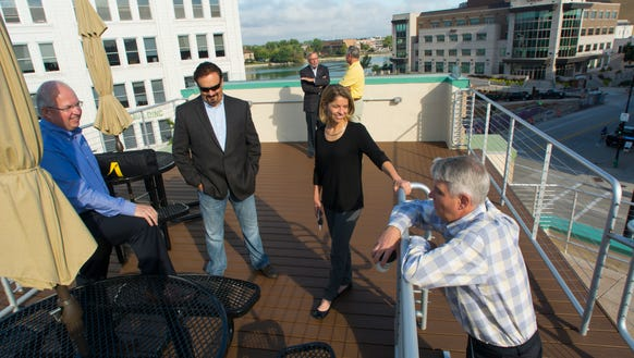Founding members of New Venture Foundry on the roof