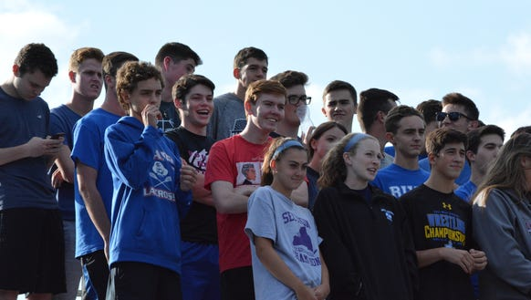 The Pearl River student section watches the Pirates