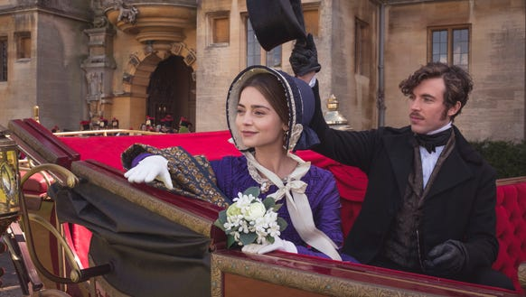 Jenna Coleman as Victoria and Tom Hughes as Albert