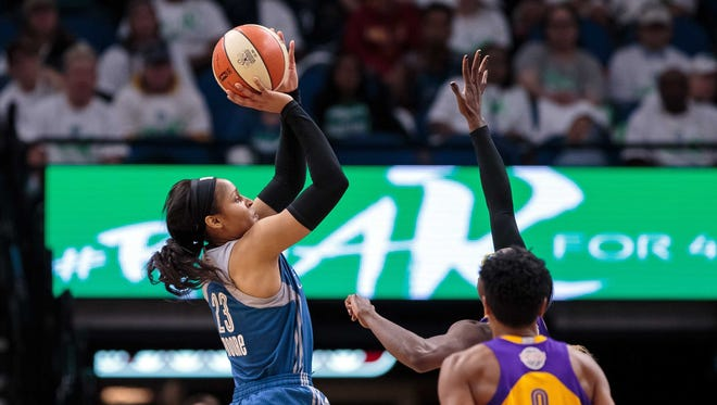If the Los Angeles Sparks are going to go up 2-0 in the WNBA Finals, they'll need to again shut down  Minnesota Lynx forward Maya Moore (23).