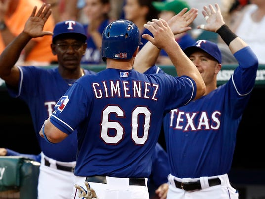 USP MLB_ Minnesota Twins at Texas Rangers