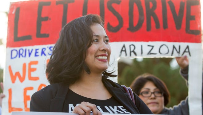 """""""Dreamers"""" celebrated an appeals court decision ordering Arizona to grant them driver's licenses."""