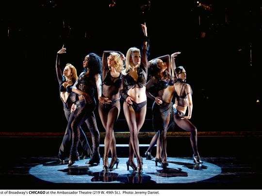 """The national Broadway tour of """"Chicago"""" visits Mann Hall next season."""