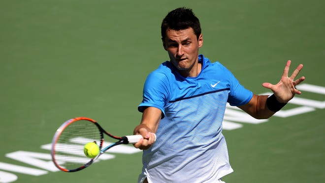 Bernard Tomic, shown during the BNP Paribas Open, lost to unseeded Diego Schwartzman 6-2, 6-2 at the Istanbul Open.