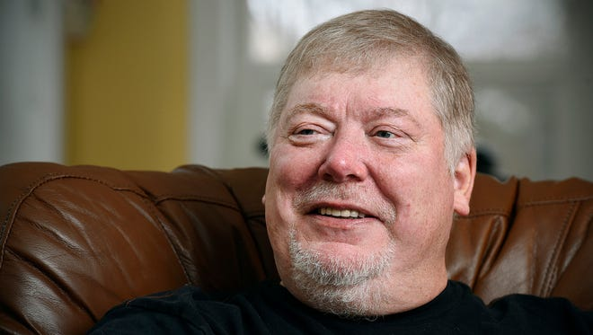 Vietnam war veteran Mike Clark talks Monday, Dec. 21 about his wife saving his live with CPR at their home in Anoka.