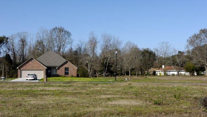 Homes are located in a Lafayette Parish subdivision in 2008.