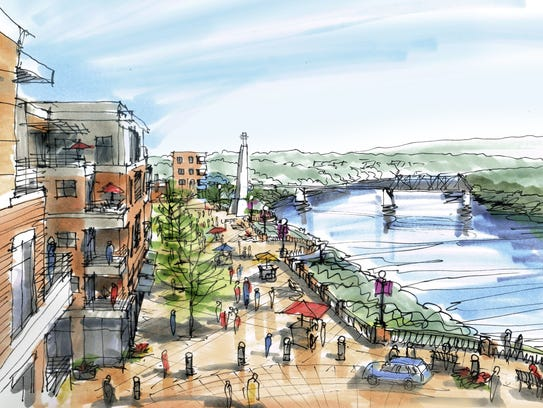 A vision for the now-vacant Magnet Mills site includes