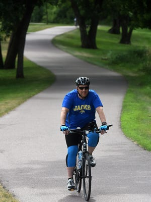 Patrick Manley rides in Pasley Park on June 21, 2016.