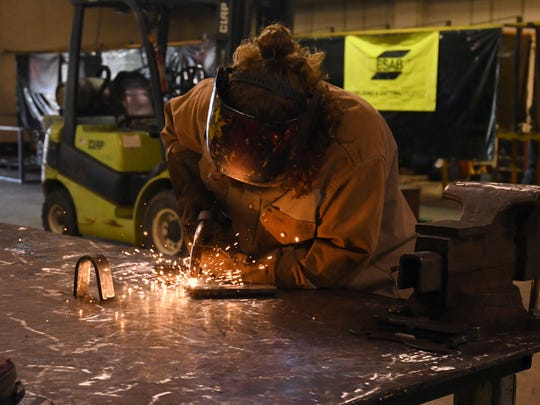 Lauren Bush, Jones County Junior College student, will earn her career certification in welding in December. She overcame a 21-year addiction to methamphetamine after going through a six-month rehab program at Zac House in Laurel in 2016.