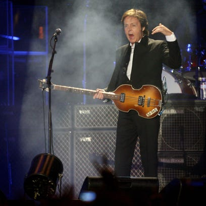 Paul McCartney performs during the 2009 Coachella Valley Music and Arts Festival. festival. McCartney is among the rock legends that will perform at Desert Trip in October at Empire Polo Club in Indio.