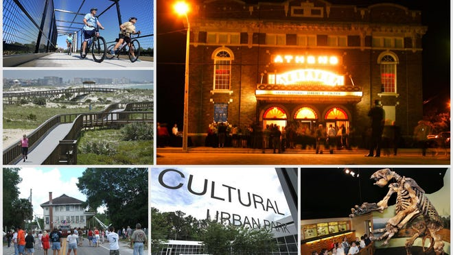 A look at a few of the local environmental and cultural projects that have benefitted from Volusia ECHO funds. From top left, the Volusia County Master Trails Program, DeLand's Athens Theatre, the Enterprise Heritage Center & Museum, the Yvonne Scarlett-Golden Cultural and Educational Center and the Museum of Arts & Sciences in Daytona Beach.