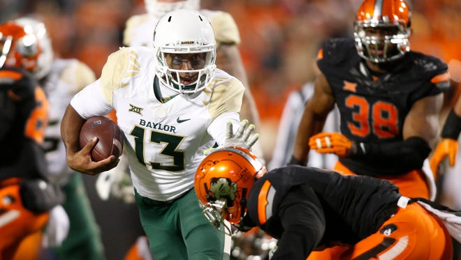 Third-string quarterback Chris Johnson's proficiency in running Baylor's offense Saturday was another great sign for the Bears.