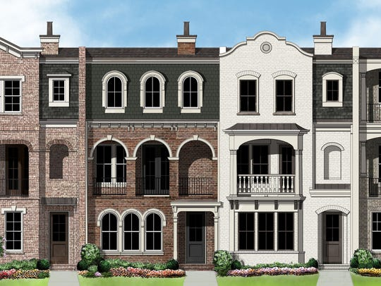 An example of brownstones planned at Richland Hall.