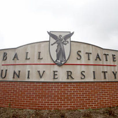 Ball State University sign.