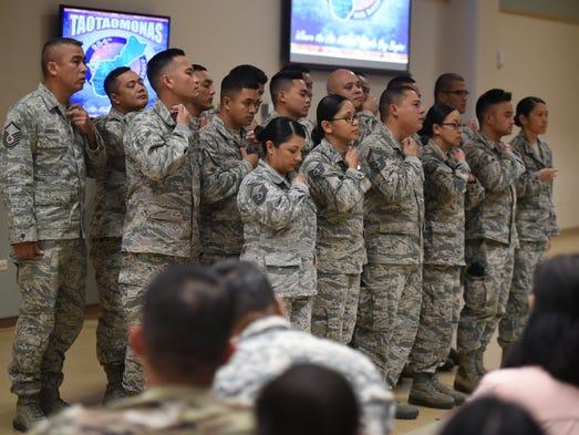 Nineteen Guam Air National Guard airmen were joined