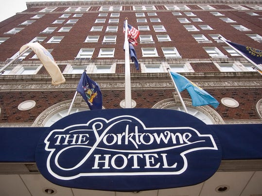 The Yorktowne Hotel is listed for sale by its current owners, Starwood Property Trust.