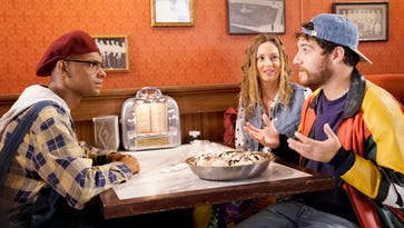 Yassir Lester, Leighton Meester and Adam Pally in Fox's 'Making History.'